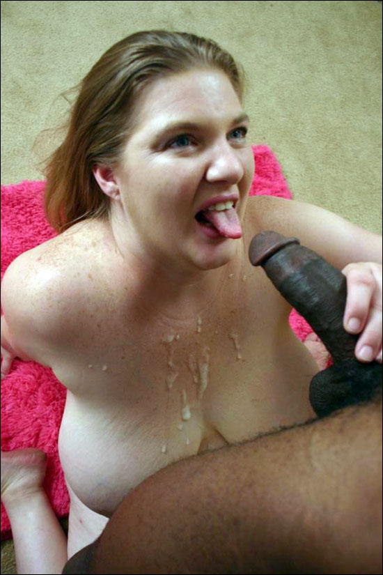 Pretty mature BBW taking a huge black dick in her cooze and then gets cum glazed all over her rack in this hot bbw hunter gallery