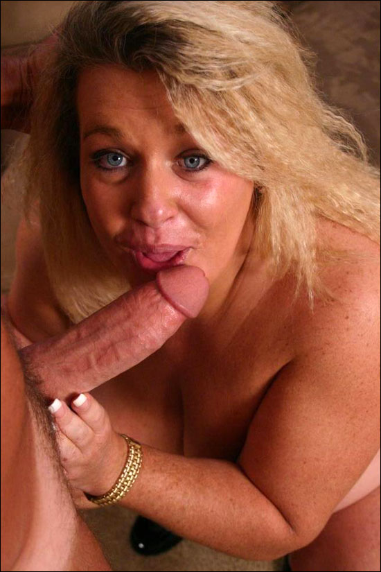 Nothing comes close to these photos of a hefty blonde named Jenna going down to suck dick to size him up and then dishing out her pussy