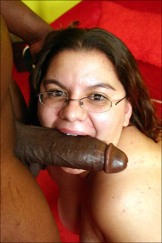 Shy BBW Jewelz gets paired with a well endowed black guy and enjoys slurping his huge black dick to get him a stiffy and then she gets fucked hard from her fuckbuddy in various positions over here